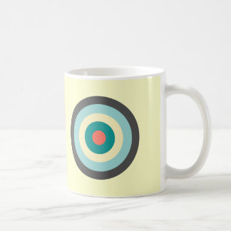 Grey Combination Bullseye Basic White Mug