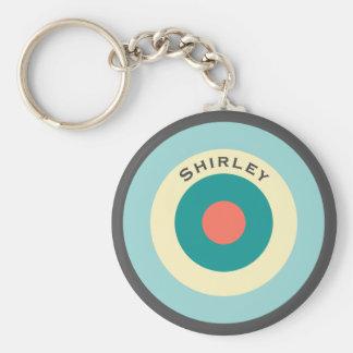 Grey Combination Bullseye by Shirley Taylor Key Ring