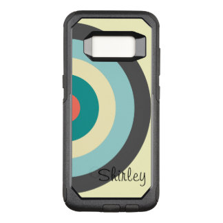 Grey Combination Bullseye by Shirley Taylor OtterBox Commuter Samsung Galaxy S8 Case