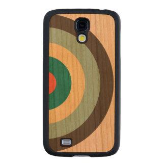 Grey Combination Bullseye Carved® Cherry Galaxy S4 Case