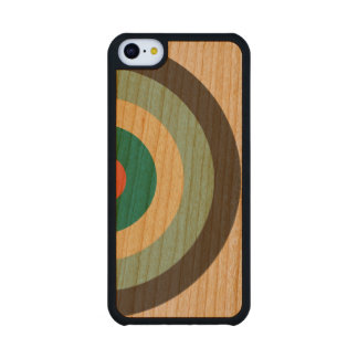 Grey Combination Bullseye Carved® Cherry iPhone 5C Case