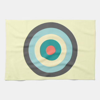 Grey Combination Bullseye Tea Towels