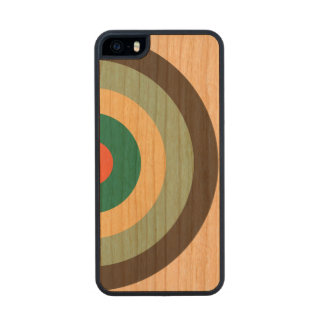 Grey Combination Bullseye Carved® Cherry iPhone 5 Slim Case