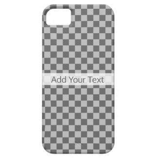 Grey Combination Checkerboard by Shirley Taylor Barely There iPhone 5 Case
