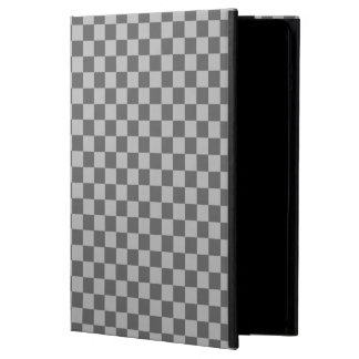 Grey Combination Checkerboard by Shirley Taylor Cover For iPad Air