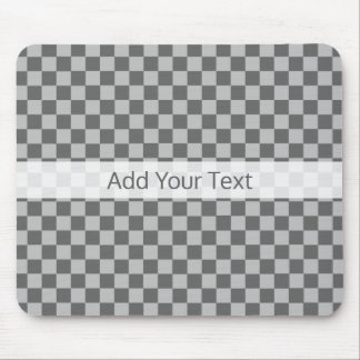 Grey Combination Checkerboard by Shirley Taylor Mouse Mat