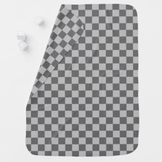 Grey Combination Checkerboard by Shirley Taylor Receiving Blankets