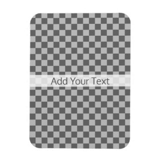 Grey Combination Checkerboard by Shirley Taylor Rectangular Photo Magnet