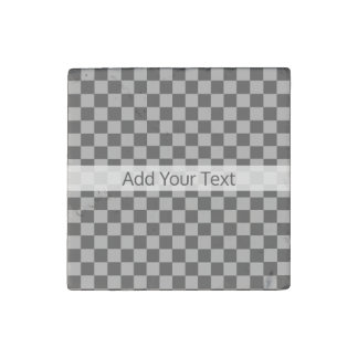 Grey Combination Checkerboard by Shirley Taylor Stone Magnet