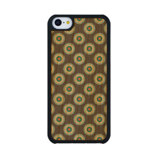 Grey Combination Circles Carved® Cherry iPhone 5C Case