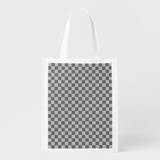 Grey Combination Diamond-Checkerboard