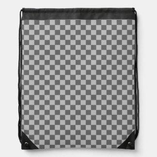 Grey Combination Diamond-Checkerboard Backpacks