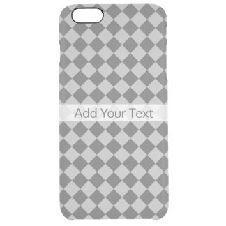 Grey Combination Diamond Pattern by Shirley Taylor Clear iPhone 6 Plus Case