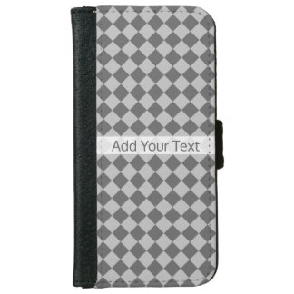 Grey Combination Diamond Pattern by Shirley Taylor iPhone 6 Wallet Case