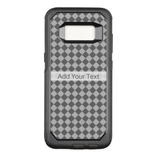 Grey Combination Diamond Pattern by Shirley Taylor OtterBox Commuter Samsung Galaxy S8 Case
