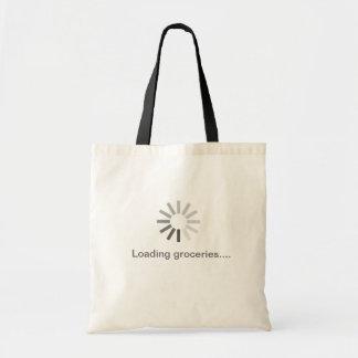 grey computer loading symbol bag