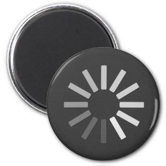 grey computer loading symbol magnet