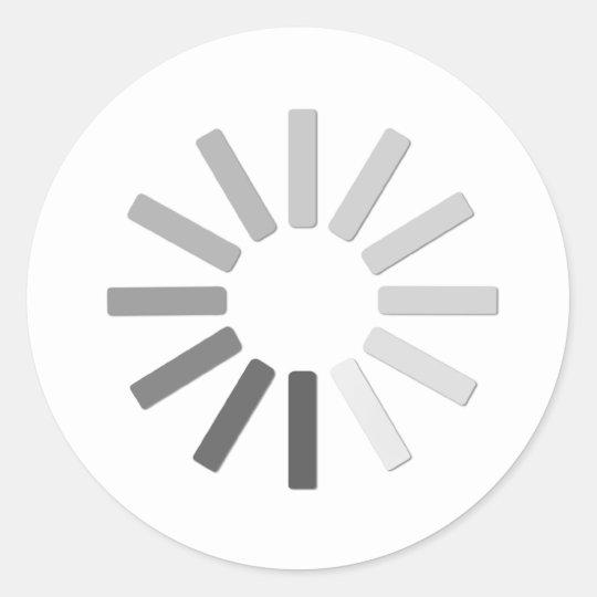 grey computer loading symbol sticker