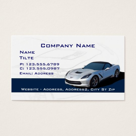 Grey Corvette Business cards