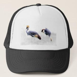 grey-crowned-crane trucker hat