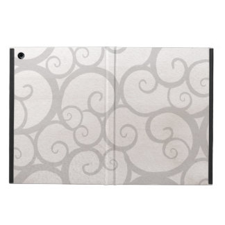 Grey curls lines case for iPad air