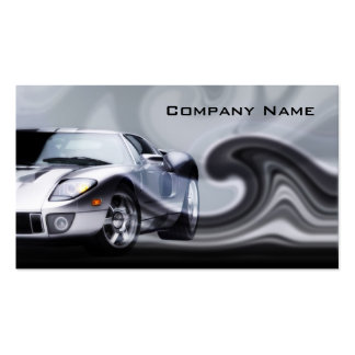 Grey Curved Sports Car Business Card