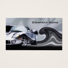 Grey Curved Sports Car Business Card ...