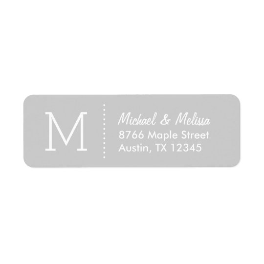 Grey Custom Monogram
