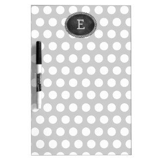 Grey Custom Monogram Chalkboard Frame Dry Erase Board