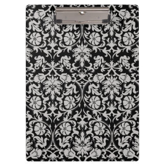 Grey Damask Clipboard
