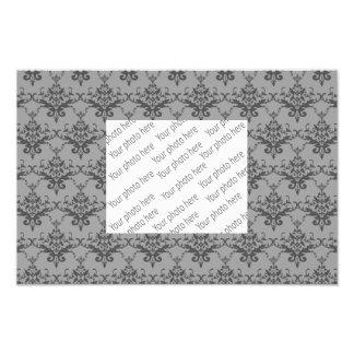 Grey damask pattern photograph