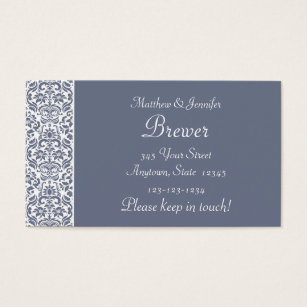 Change of address business cards business card printing zazzle uk grey damask personalised change of address cards colourmoves
