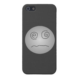 Grey Dazed and Confused Smiley iPhone 5 Cases