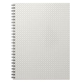 Grey Diamond Pattern Spiral Note Books