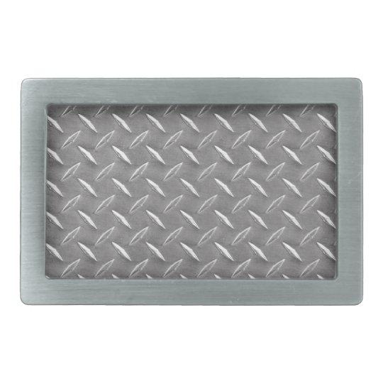 Grey Diamond Plate Belt Buckles