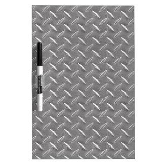 Grey Diamond Plate Dry Erase Board