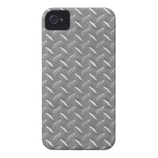 Grey Diamond Plate iPhone 4 Case