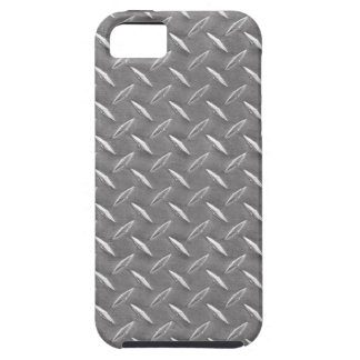 Grey Diamond Plate iPhone 5 Cases