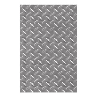 Grey Diamond Plate Stationery