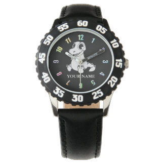 Grey Dinosaur Kid's Numbered Watch
