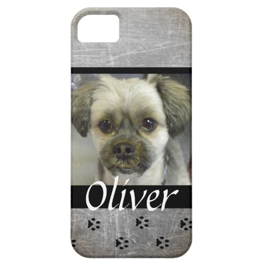 Grey Dog Photo Personalised Cell Phone Case