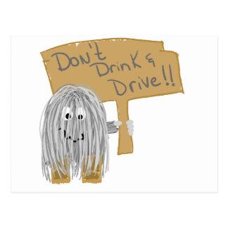 Grey Dont Drink & Drive Postcard