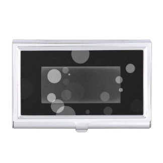 Grey Dots On Black Background Business Card Holder