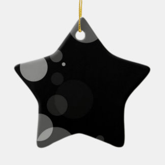 Grey Dots On Black Background Christmas Ornament