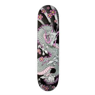 Grey Dragon Tattoo Art Skateboard