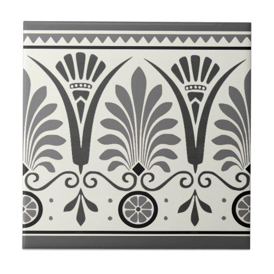 Grey Dresser Art Minton Palmette 1880 Tile Repro