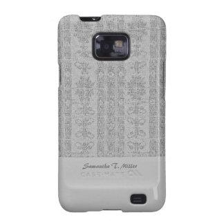 Grey Elegant distressed Damask Samsung Galaxy S2 Cases
