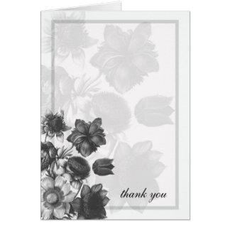 Grey Elegant Flower Wedding Cards