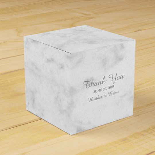 Grey Elegant Marble Wedding Favour Box