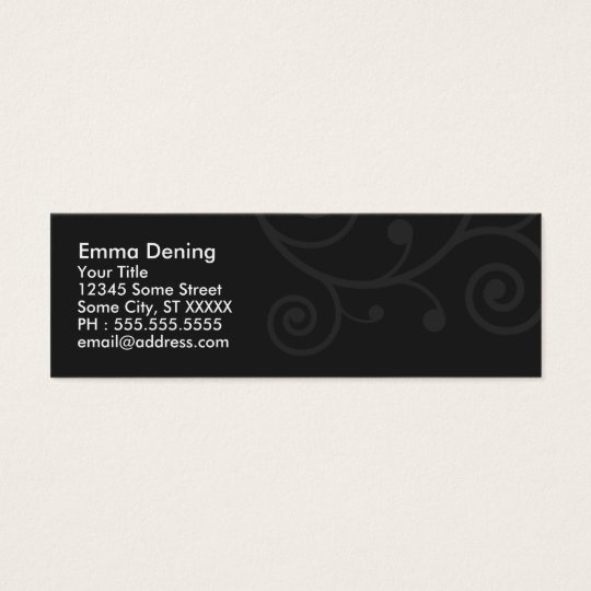 Grey Elegant Mini Business Card